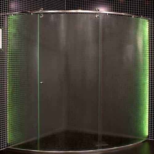 Box curvo ideia glass vidro temperado de 8 mm, com preços promocionais a pronta entrega. Perfis de acabamento em alumínio várias cores.