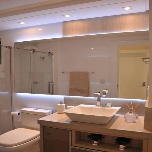 Espelho de banheiro 4 mm, lapidado ou bisotado, fixação com fixa espelho ou parafusado, espelhos para banheiro, salas e ambientes, garantia total contra umidade e oxidação.