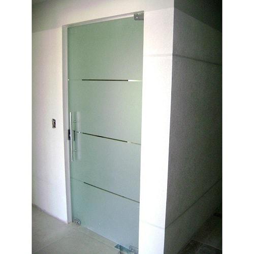 porta jateada temperado de 8 mm, com altura padrão de 1,90 cm, a pronta entrega. Várias opções de cores de acabamento com qualidade total. Dubox SP, o Box Certo pra Você