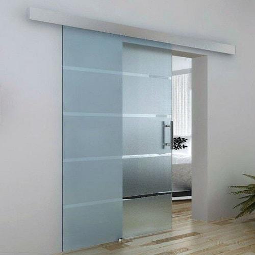 Portas de vidro temperado de 8 mm, Jateada corre atrás da parede com ótimos preços com entrega programada. Dubox SP,