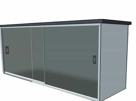 fechamento de pia dubox sp vidro temperado de 8 mm, na cor fume jateado com perfil de acabamento em aluminio branco.