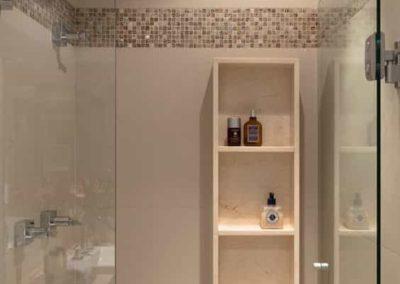 Box de banheiro na aclimação, porta de abrir.