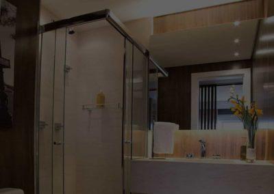 Box para Banheiro Dubox sp acabamento bronze.