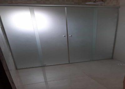 Box de Vidro Jateado Frontal 04 Folhas