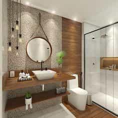 Espelho para banheiro modelo arredondado. Espelho a pronta entrega com preços promocionais e várias opções de perfil de acabamento.