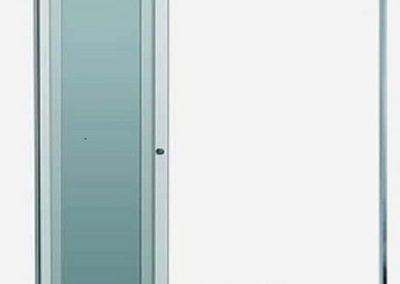 Box versatik com acabamento fosco em alumínio. Box de vidro a pronta entrega com preços promocionais e várias opções de perfil de acabamento.